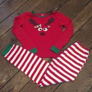 Other - Gymboree Reindeer Pajamas Size 12 Like New!